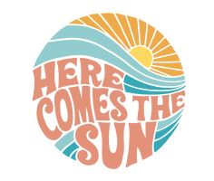 'Groovy Here Comes the Sun' Sticker by designxmad Photo Wall Collage, Picture Wall, Aesthetic Iphone Wallpaper, Aesthetic Wallpapers, Agenda Photo, Whats Wallpaper, Cute Patterns Wallpaper, Aesthetic Stickers, Cute Stickers