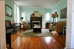51bd9667d9127e261f0023b4._w.540_s.fit_  I love the wall color, the color of the wood floor, and the darker wood used on the bench and furniture