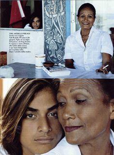 Tuki Brando and Tarita Brando (grandma)
