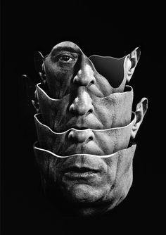 Arnold Schoenberg / Quartet (2014) Handmade collage by Matthieu Bourel