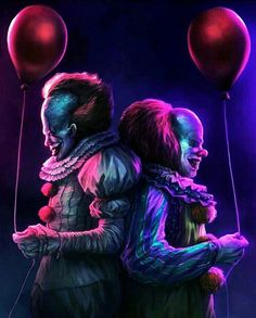 "Horror Movie Art : Stephen King""s IT 2017 vs 1980 ""Pennywise"" by Alejandro Arevalo Le Clown, Creepy Clown, Arte Horror, Horror Art, Scary Movies, Horror Movies, Pennywise The Dancing Clown, Horror Icons, Evil Clowns"