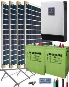 Kit Solar Aislada 1000W 12V 4000Whdia