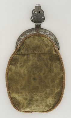 Man's Purse Spain, circa 1620 Costumes; Accessories Brocaded wool, linen, steel 12 1/2 x 7 in. (31.75 x 17.78 cm) Gift of Mrs. Shirley Breme...