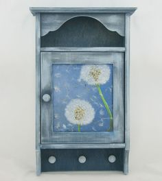 $34,A beautiful wooden key cabinet hand painted and decorated in decoupage technic. Protected with water based, ecological satin varnish. There are six