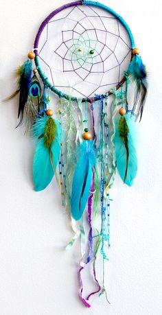 The Peacock Native Woven Dreamcatcher. $59.00, via Etsy.