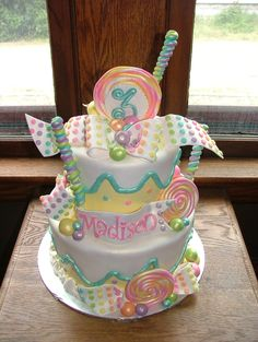 Candy-themed Birthday Cake