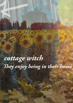 •°• P a g a n Magick •°• Cottage Witch :: The y enjoy being in their home.