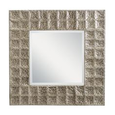 Missoula 28.25 x 28.25 Square Antique Pewter Beveled Mirror