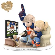 Everyday Is A Touchdown With You Broncos Figurine. I'm not too much on the foam finger (thanks Miley)... but on this figurine, it's adorable.