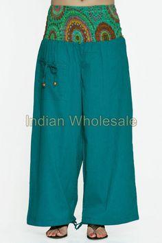 Indian Printed Aladdin Baggy Women Cotton Harem Pants Trousers IWUS2014TQ #Handmade #CasualPants
