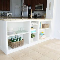 s 17 brilliant ways to declutter every countertop in your home, countertops, home decor, organizing, storage ideas, Add storage to the back of your counter
