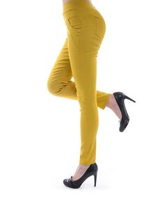 A wardrobe staple, these comfortable jeggings are a casual and versatile base. Ace Fashions recommends ordering one size up. Jeggings, Wardrobe Staples, Mustard, That Look, Sweatpants, My Style, Boots, Casual, Clothes