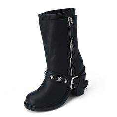 Suecomma Bonnie Double layer boots LSAW25212BK #Coordinuna
