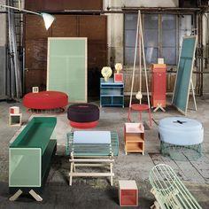 furniture by Note Design Studio. Via Dezeen. Colorful Furniture, Unique Furniture, Outdoor Furniture Sets, Furniture Design, Home Design, Note Design Studio, Blog Deco, Interior Architecture, Home Accessories