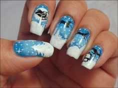 Deer+nail+design+for+New+Year+Eve+::+one1lady.com+::+#nail+#nails+#nailart+#manicure+