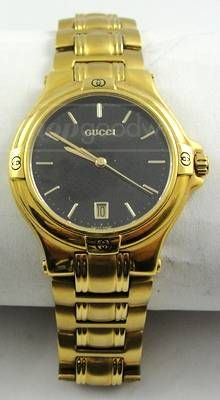 Gucci Gold / Black Wrist Watch