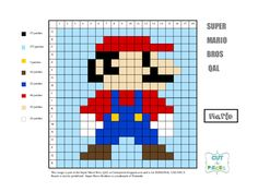 Super Mario Brothers QAL - Mario Other decals also here Mario Crochet, Graph Crochet, Pixel Crochet, Super Mario Brothers, Super Mario Bros, Pixel Art Templates, Fire Flower, Nerd Crafts, Pixel Pattern