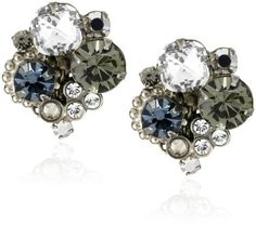 """Sorrelli """"Pewter"""" Crystal Cluster Clip Silver-Tone Earrings Sorrelli. $57.50. Store in a dry place. A polishing cloth will keep the metal from oxidizing over time. Made in China. Each piece of Sorrelli is stamped with the word Sorrelli or features a Sorrelli hangtag. To keep your jewelry looking its best, clean it periodically with a mild soap and water"""