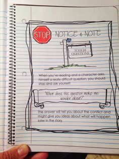 Musings from the Middle School: Notice and Note (Part Two). Using Notice & Note with units from Holt Literature series. Page Middle School, Education Middle School, Middle School Reading, Reading Strategies, Reading Comprehension, Notice And Note, Reading Notebooks, Interactive Student Notebooks, Reading Themes