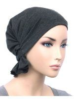 Abbey Cap® Women's Cotton Chemo Hat Beanie Scarf, Turban Headwear for Cancer Patients Summer Scarf Tying, Summer Scarves, Ruffle Fabric, Knitted Fabric, Cute Scarfs, Cloche Hat, Charcoal Gray, Chemo Beanies, Diy Scarf