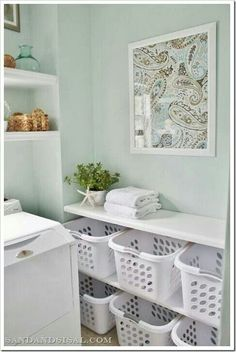 Laundry room organization. Need this! Then no excuse for towels all over the floor!