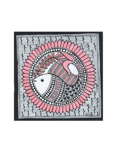 Fish Madhubani Painting x Madhubani Art, Madhubani Painting, Mural Painting, Fabric Painting, Saree Painting, Mask Painting, Mandala Design, Mandala Art, Folk Print