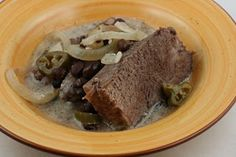 Crockpot Jalapeno Pot Roast  Sooo good! My husband couldn't get enough of it