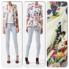 Floral Print Blazer ~ Amazing cut & style ~ $79 ~ Email lillilouise@outlook.com to order x