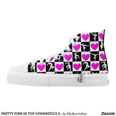 PRETTY PINK HI TOP GYMNASTICS SNEAKERS Watch your Gymnast dazzle, sparkle and shine in our cool and colorful Gymnastics sneakers. Only available here at Zazzle! https://www.zazzle.com/collections/gymnastics_sneakers-119394231113334715?rf=238246180177746410&CMPN=share_dclit&lang=en&social=true #Gymnastics #Gymnast #WomensGymnastics #Gymnastsneakers #Gymnasticssneakers #Lovegymnastics
