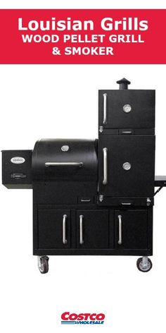 The Louisiana Grills Champion Wood Pellet Grill and Smoker takes outdoor cooking versatility to new heights. With a total cooking area of 3432 sq. in. and fully integrated multi-chamber smoking cabinets, the Champion is designed to be a show stopper.