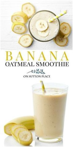 this banana oatmeal smoothie with almond milk for an easy breakfast or snack. Perfect for healthy eating and weight loss.Make this banana oatmeal smoothie with almond milk for an easy breakfast or snack. Perfect for healthy eating and weight loss. Smoothie Recipes Oatmeal, Banana Oatmeal Smoothie, Best Smoothie Recipes, Detox Recipes, Low Calorie Smoothie Recipes, Banana Milkshake, Oatmeal With Banana, Frozen Banana Smoothie, Banana Shake Recipe
