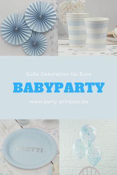 Tolle Dekoration für die perfekte Babyparty für einen kleinen Jungen findet Ihr bei party-princess