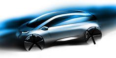 BMWグループ初の量産電気自動車「メガシティ・ビークル」のデザインスケッチ