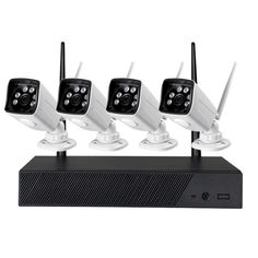 MNK401 720P Wireless NVR Kit P2P Outdoor HD IR Night Vision Security IP Camera WIFI CCTV System