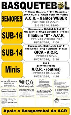 ACR: Basquetebol > 18 e 19 Jan 2014 #ValeDeCambra #basquetebol