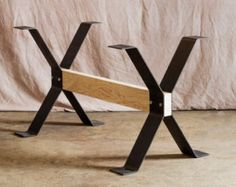 Industrial Steel I-beam Shelf Brackets by TimberForgeWoodworks