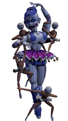Ballora and the Minireenas by AndyDatRaginPyro on DeviantArt -->WHY IS THE BOTTOM ONE DABBING