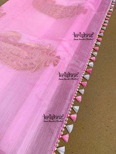 Simple Saree Kuchu with Pearls Saree Kuchu New Designs, Saree Tassels Designs, Saree Blouse Neck Designs, Dress Neck Designs, Fancy Blouse Designs, Bead Embroidery Patterns, Hand Embroidery Designs, Stylish Blouse Design, Simple Sarees