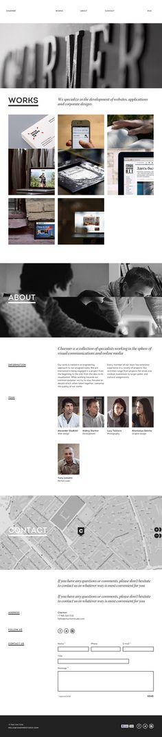 Charmer- Inspiración web design http://eng.charmerstudio.com