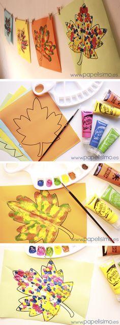 Manualidades faciles para niños como pintar figuras simetricas