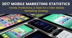 Mobile Marketing Statistics - Key stats, trends & predictions for your 2017 mobile marketing strategy: apps, ads, video, m-commerce & more. Mobile Marketing, Mobile Advertising, E-mail Marketing, Digital Marketing, Native Advertising, Facebook Marketing, Mobile Phone Repair, Mobile Phones, Cheap Mobile