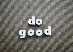 Do Good  Vintage Ceramic Push Pins by thewhitepepper on Etsy, $14.50