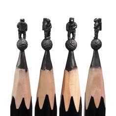 Delicadas esculturas esculpidas na ponta do lápis 05