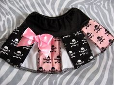 NEW Baby Girls Black.Pink,white skulls Skirt 0-3,newborn Rock,Goth,Punk,Gift, #Unbranded #CasualParty