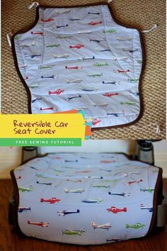Reversible Car Seat Cover FREE sewing tutorial. If you have a child or a grandchild and you have a car then this FREE tutorial is perfect for you, even as a beginner sewer. Pick out two fabrics that your child will love and get working on this relatively quick and simple project. We hope you like it! Sewing Patterns Free, Free Sewing, Sewing Tutorials, Quilt Patterns, Free Pattern, Modern Kids, Baby Sewing, Easy Projects, Baby Accessories