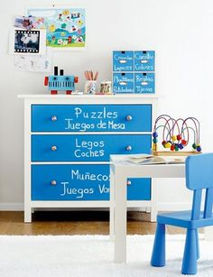 mommo design: 10 COLORFUL IKEA HACKS - Hemnes as toy storage