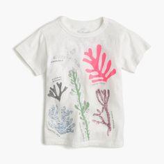Girls' coral T-shirt