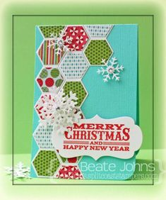 Marcie's Hexagons by Beate - Cards and Paper Crafts at Splitcoaststampers