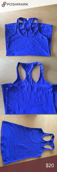 Lululemon Blue Tank In great condition! No pilling. Racer back workout tank. lululemon athletica Tops Tank Tops