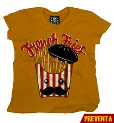"""Camiseta French Fries""  morra  disponible en www.kingmonster.com.mx"